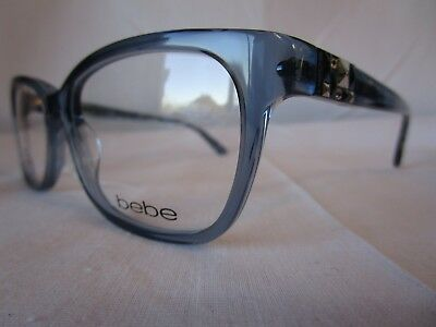 104b9e140644 Bebe Eyeglass Frame Wish Bb5139 042 Sapphire Clear Blue 54-16-135 New  Authentic
