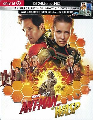 Ant-Man and the Wasp 4K ULTRA HD+BLU RAY+DIGITAL+40 PAGE BOOK Limited Edition