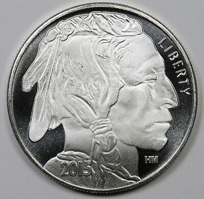 2015 Liberty Indian Head Buffalo Highland Mint .999 Fine Silver Round 1 oz