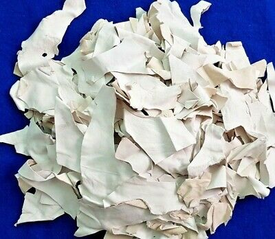 1 kg bag WHITE Quality REAL soft Leather Arts & Crafts Off Cuts ScraPS Remnants
