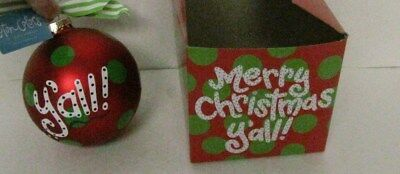 Christmas Tree Ornaments Coton Colors ~ Initial Ornaments ~ NWT ~ Glass ~ Retired ~ Free Shipping!!! Celebration & Occasion Supplies