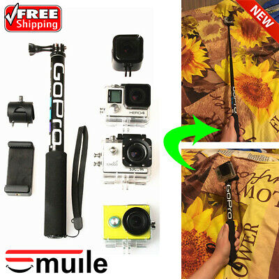 Selfie Stick Monopod Hand Pole Extendable Waterproof Phone Holder for GoPro