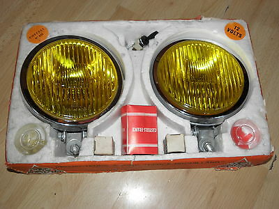 phares optique chromé antibrouillard rally casteels lamp covers Driving spot