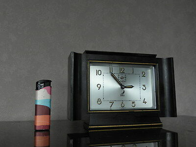old CLOCK ALARM jaz  Art Deco old antique bakelite antique chrome VINTAGE
