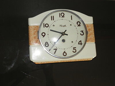 vintage WALL CLOCK kienzle Ceramic  Wall Pendulum old antique Wand Uhr Art vtg