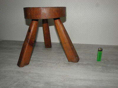 wooden Stool folk wood old campaign country side Farmer vintage Chair