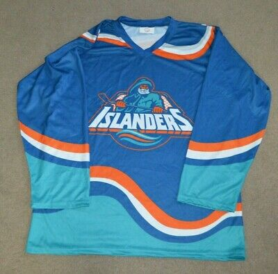 New York Islanders Sga Fisherman Hockey Jersey Large 39 95 Picclick