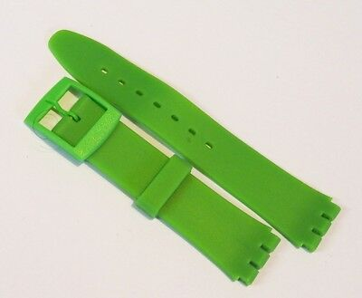 Replacement Resin watch strap band for Swatch 17mm GREEN with buckle #SS3