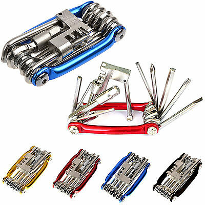 11 Multi Tool Bicycle Bike Allen Hex Keys Screwdriver Chain Link Tool MTB ROAD E