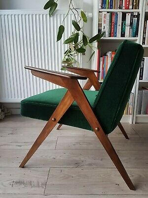 armchair vtg 60's CHIEROWSKI BUNNY made in Poland design RENOVATED danish sessel