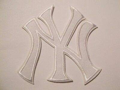 """New York Yankees NY Embroidered PATCH~3 1/2"""" x 3""""~Iron On~MLB~FREE US Mail"""