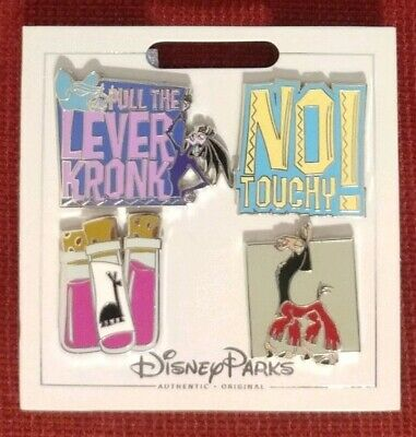 Disney Parks 4 Pin Emperors New Groove Pin Set Kuzco Yzma