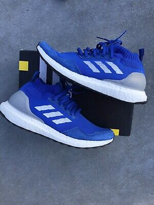 ac999e7388b5a Adidas Ultra Boost Mid Run Thru Time Consortium Size 8 Men s BY3056 Blue  White