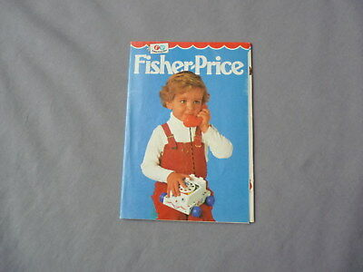 FISHER PRICE Katalog 70er Prospekt Broschüre brochure catalogue