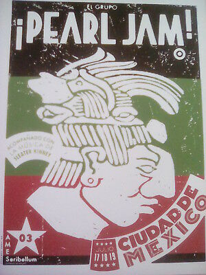 Pearl Jam Mexico City 2003 Tour Poster 20x15cm from Book to Frame?