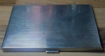 Beautiful Vintage 1930's Antique German Ww2 Solid Silver Cigarette Case