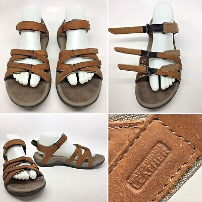 45508f641ede TEVA TIRRA Leather 4177 Brown Womens Strappy Sport Water Sandals Sz 9.5 VGC!
