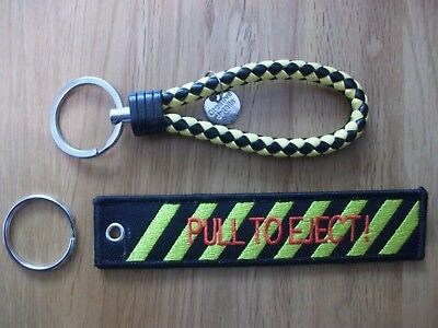 Pull To Eject and  Ejection Seat Style Handle  key chains  UK SELLER FREE P+P