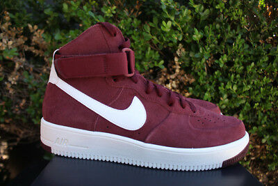 abd700de2a395 NIKE AIR FORCE 1 ULTRAFORCE 15 DARK TEAM RED/SUMMIT WHITE Maroon CAVS 880854 -