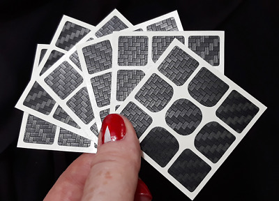 Magic Cube Stickers set to Yuxin Little Magic 3x3  55mm CARBON FIBER