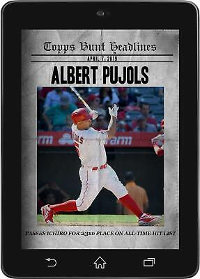 Topps BUNT Albert Pujols HEADLINES April 8 2019 [DIGITAL CARD]