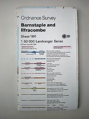 Ordnance Survey - Landranger Map Sheet  180 - & Barnstaple & Ilfracombe