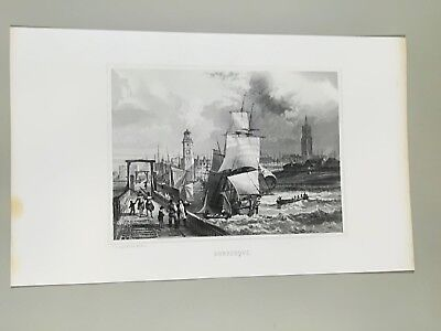 Gravure ancienne -  Dunkerque