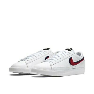 a0c3e762ae95 Nike Blazer Low 3D White Red Casual Lifestyle Sneakers Men s Size 9.5  AV6964-100