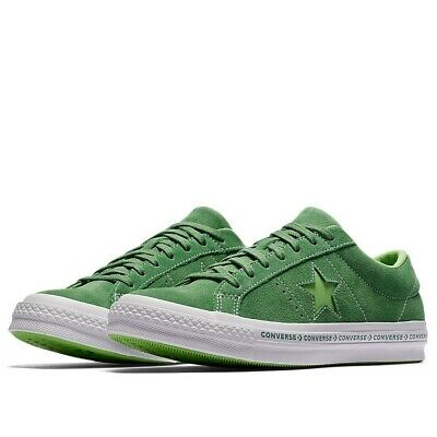 82ac32a57c11cf Converse One Star Pinstripe Ox Size 10 Mint Green Lime Suede 159816C