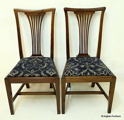 2 Georgian Style Mahogany Dining Chairs FREE Nationwide Delivery
