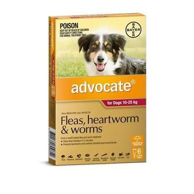 Advocate Flea & Worm Control for Dogs 10-25kg - 6 Pack