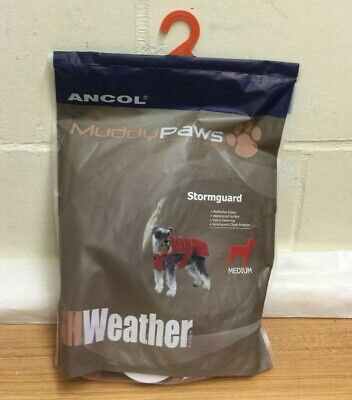 Ancol Muddy Paws  Fleece Lined Waterproof Stormguard Rain Coat Dog Coat (Large)