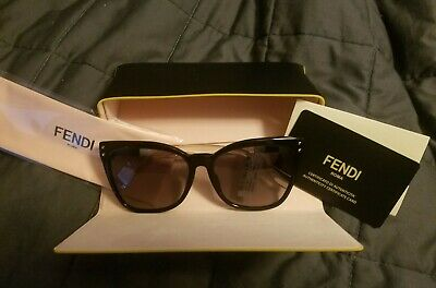 bd92503b1618 NEW FENDI SUNGLASSES Ff 0121 s Mfr-Ha Havana brown Authentic 121 ...