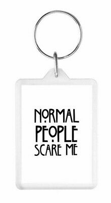 American Horror Story - Fandom Keyring -Normal People Scare Me - Christmas Gift