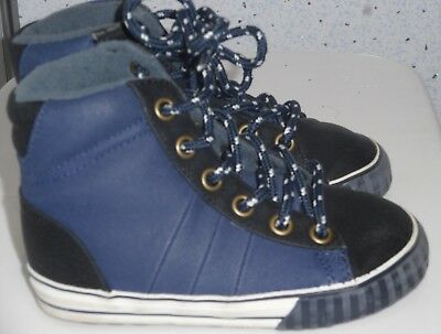 Boys Next Hi Top Trainers Uk 7 Eur 24 Blue Shoes Boots Trainers Kids High Ankle