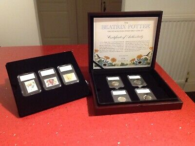 2018 Beatrix Potter box set of 4 50p coins and 3 stamps - low limited edition