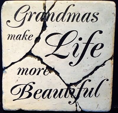 latex mould for making Lovely grandma plaque/stepping stone