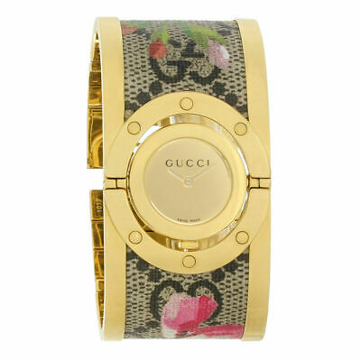 90b0ab7d164 Gucci Womens YA112443 Twirl Bloom Multicolored Steel Floral Textile Center  Watch