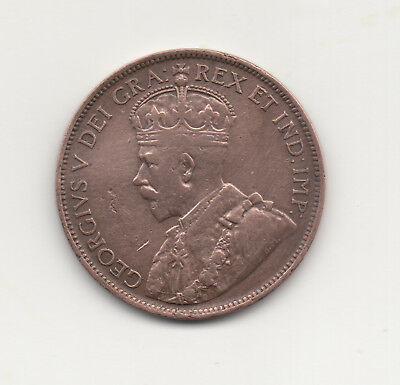 1916 Canada One Cent Penny Copper Coin