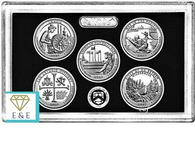 2019-S Silver America The Beautiful 5 Coin Proof Set From 10-Pc Silver Proof Set
