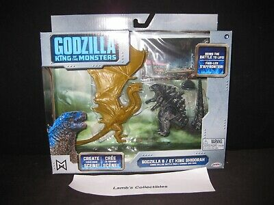 Godzilla King of the Monsters collide battle pack Godzilla & King Ghidorah figs