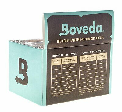 72% Boveda 60 Gram 2-Way Humidity Control Humidipak Humidifier 12 Packet 1481-12