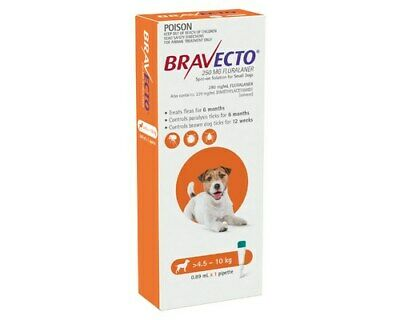 Bravecto Spot On for Small Dogs - Orange 4.5-10 kg - Spot-on Flea & Tick