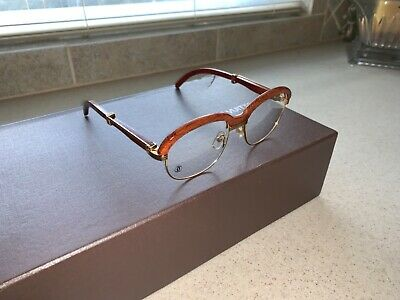 4d6be7c6ea8 VINTAGE CARTIER MALMAISON Palisander Wood 54Mm 17 Sunglasses France ...