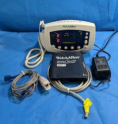 Welch Allyn 53NTP Vital Signs Monitor with Accessories (Temp, SpO2, BP, Printer)