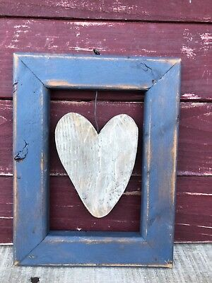 Primitive Handcrafted Heart Wall Hanging, Country Farmhouse Decor