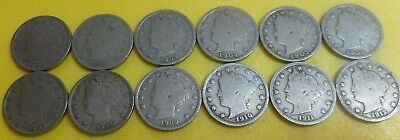 Liberty Head Nickel Starter Collection         * Lot-LHNSC12