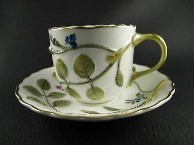 BLIND EARL by ROYAL WORCESTER Demitasse Cup & Saucer Multiple Available Raised