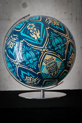 Earth Crisis Globe : Signed + Numbered : Obey : Shepard Fairey : France Liberte
