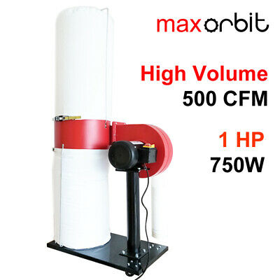 Wood MDF Dust Collector 750W HVLP High Volume Suction 130L Bag Vacuum Cleaner